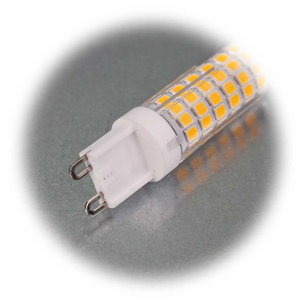 LED Leuchtmittel mit G9-Sockel erzeugt 720lm warmweißes Licht