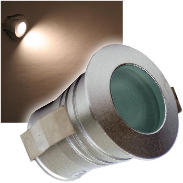 LED-Einbaustrahler 3W CREE warm-weiß Tropfen