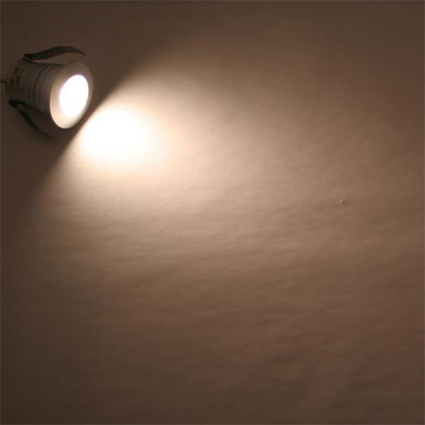 Alu LED Einbauspot 12V mit 1x 3W Highpower CREE LED vergleichbar mit ca. 25W Halogenstrahler