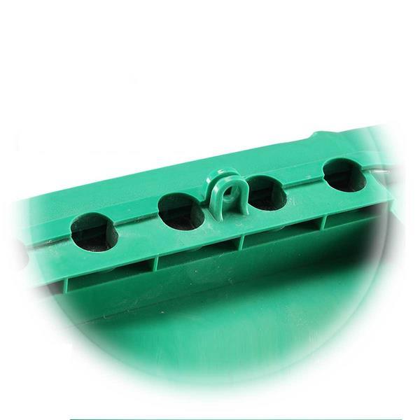 Garten-Kabelbox, grün, IP55, Vorrichtung für Vorhängeschloss