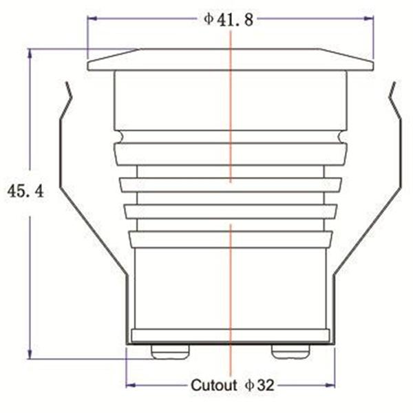LED Downlight für 12V DC mit nur ca. 3W Verbrauch