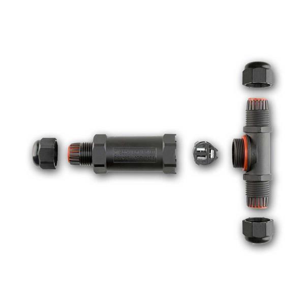 Dosenmuffe für Kabelquerschnitt von 1,0 bis 2,5mm², 1 Eingang + 2 Ausgänge