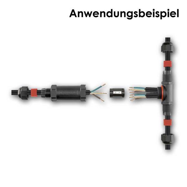Verbinder für 3-polige Kabel, bietet auch Schutz gegen dauerndes Untertauchen