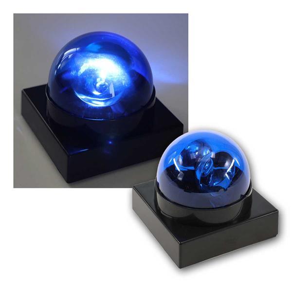 LED Polizeilicht Buzzer BLAU Batteriebetrieb