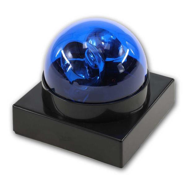 LED Blaulicht- Bazzer, Party-Gag, BLAU, batteriebetriebn