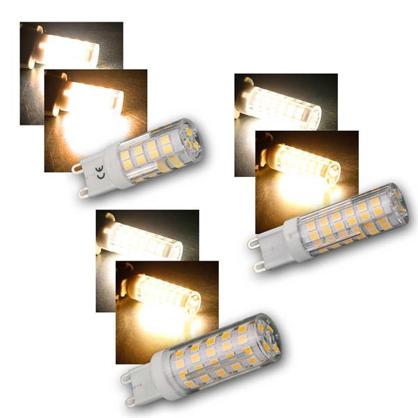 G9 LED-Stiftsockellampe McShine, 3,5/5/6W, 270°