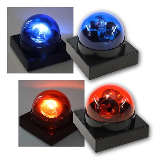 LED Polizeilicht Buzzer BLAU/ROT Batteriebetrieb
