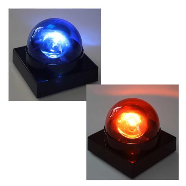 Partylicht Buzzer in blau oder rot mit  Batteriebetrieb