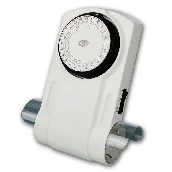 Mechanische Zeitschaltuhr, 2-fach Steckdose, 24h