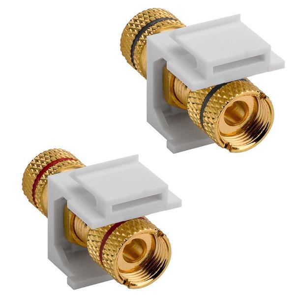 Keystone Modul Lautsprecheranschluss rot oder schwarz