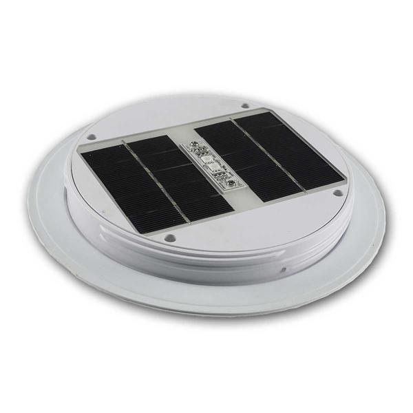 LED Solar Kugelleuchte RGB 30cm Ø,  romantische Farbtupfer