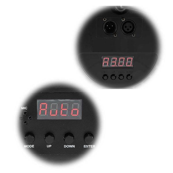 RGB-Partystrahler mit LED-Anzeige in 3 Ausführungen