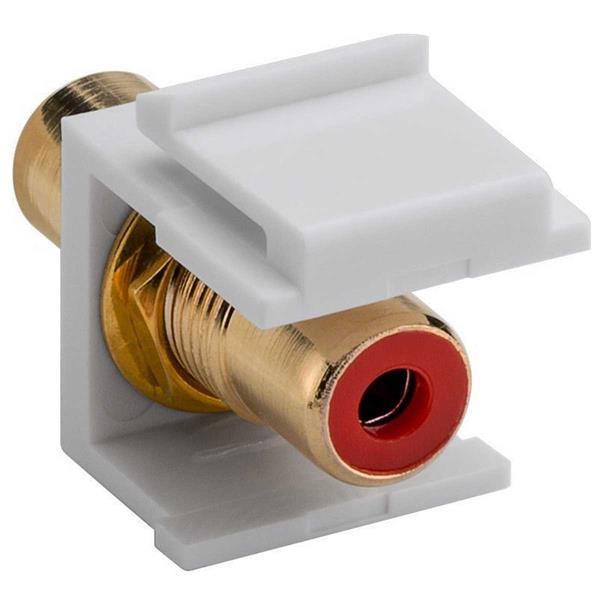Keystone Modul Cinch/RCA, Buchse rot