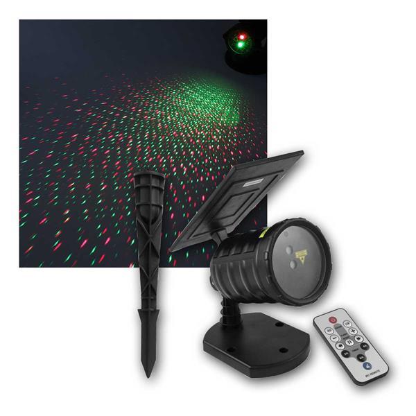 Solar-Gartenlaser (rot/grün) Deko-Projektor IP65