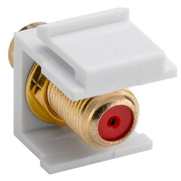 Keystone Modul Cinch-Buchse Weiß>F-Buchse, rot