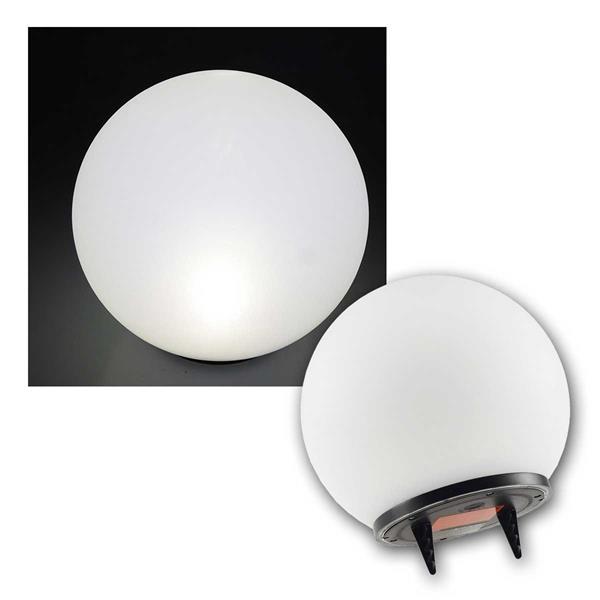 LED Solar Kugelleuchte Ø25cm IP44 neutralweiß
