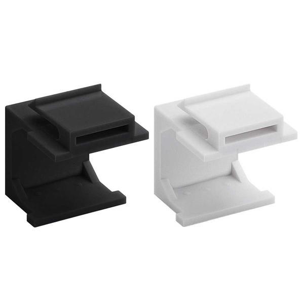 Keystone Abdeckung (4-er Pack), Weiß/Schwarz