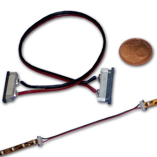 Verbinder für 8mm 2-poligen SMD Strip 15cm Kabel