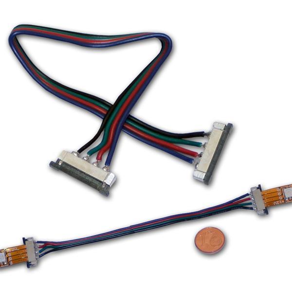 Verbinder für 4-poligen 10mm SMD Strip 15cm Kabel
