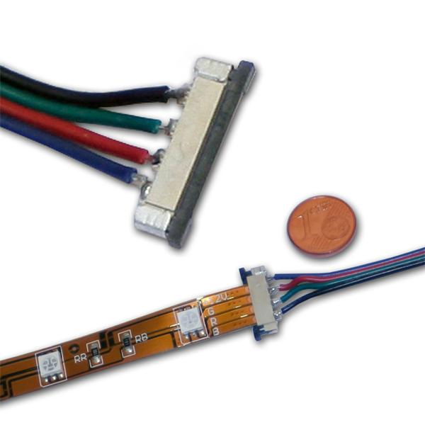 Verbindungskabel für RGB SMD LED Streifen mit Kunststoffbacken