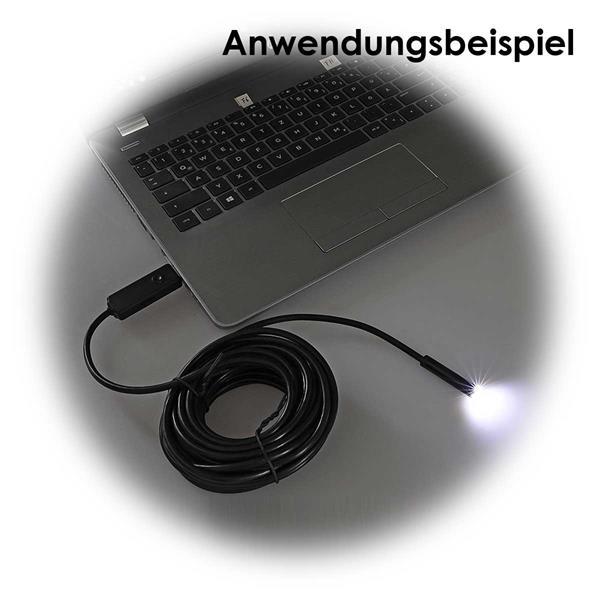 HD-Endoskopkamera mit USB-Anschluss und Kameralicht