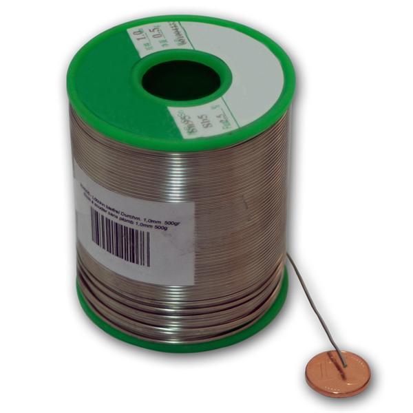 flussmittelgefüllter Weichlötdraht für Lötungen in der Elektronik