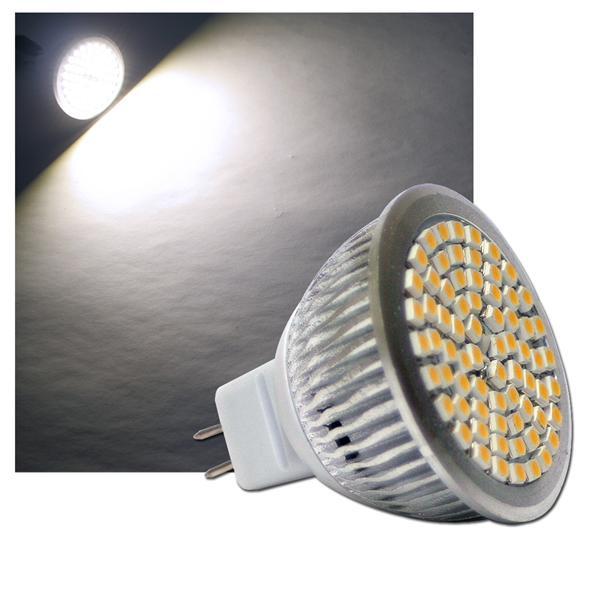 LED-Strahler MR16 70 LEDs H50 SMD pur-weiß