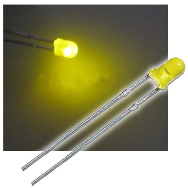 10 LED 3mm diffus blinkend gelb