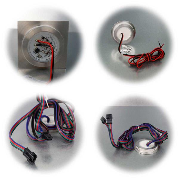 LED-Einbauleuchte Fine in rundoder eckig und in 3 Lichtfarben