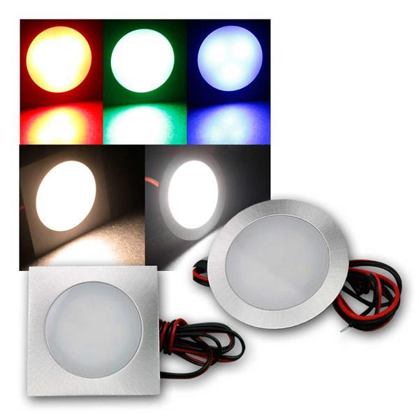 LED-Einbauleuchte Fine rund/eckig Edelstahl