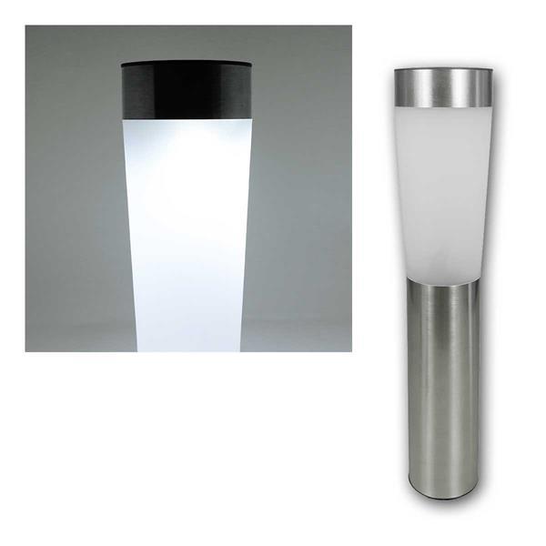 4x LED Solar Gartenleuchte, Edelstahl, rund, 1 LED