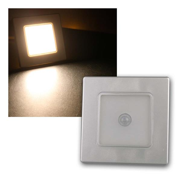 LED Wand-Einbauleuchte silb EBL 86 PIR 2,5W warm