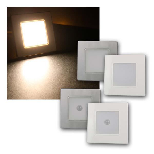 LED Wand-Einbauleuchte weiß/silber EBL 86 2,5W