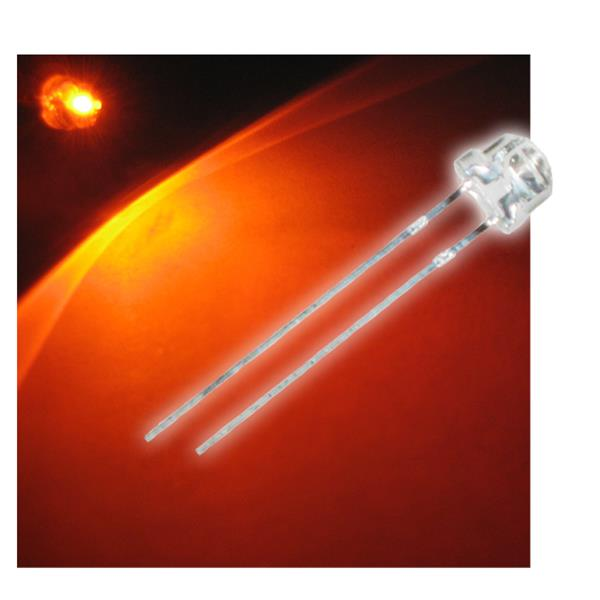 "10 LED 4,8mm orange Flachkopf Typ ""WTN-48-1000o"""
