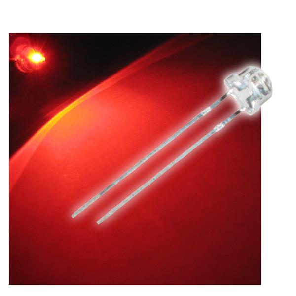 "10 LED 4,8mm rot Flachkopf Typ ""WTN-48-1600r"" red"