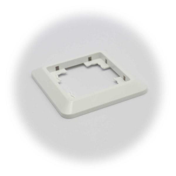 Rahmen aus weißem Kunststoff für klassisches und unauffälliges Design