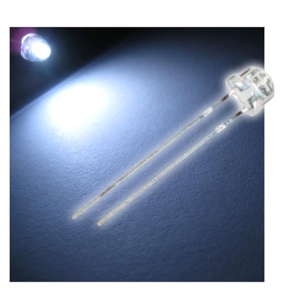 """10 LED 4,8mm weiß Flachkopf Typ """"WTN-48-2000w"""""""