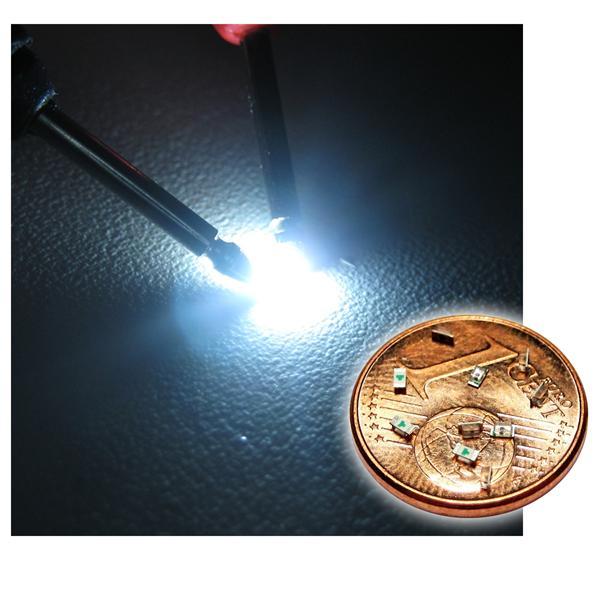 10 SMD LED 0603 kalt-weiß Typ WTN-0603-300w