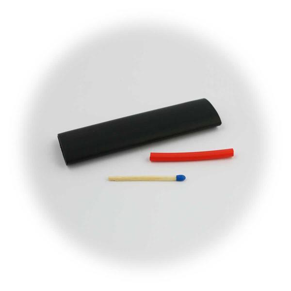 142-teilge Schrumpfschlauch Sets in schwarz oder schwarz/rot