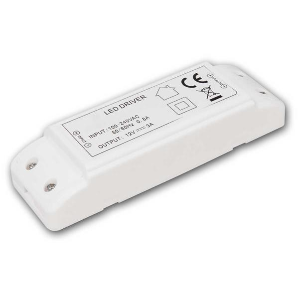LED Transformator 1-36W, 12V DC, 220-240V