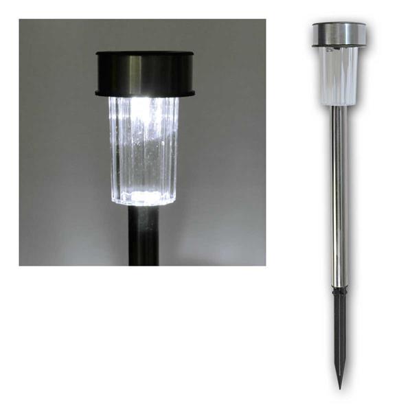 LED Solar-Gartenleuchte, Edelstahl - ETT Mini