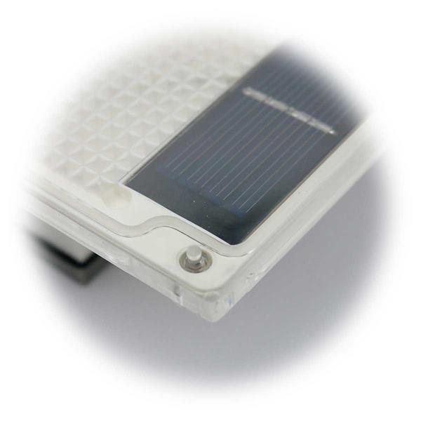 LED Bodeneinbaustrahler mit Solarpanel