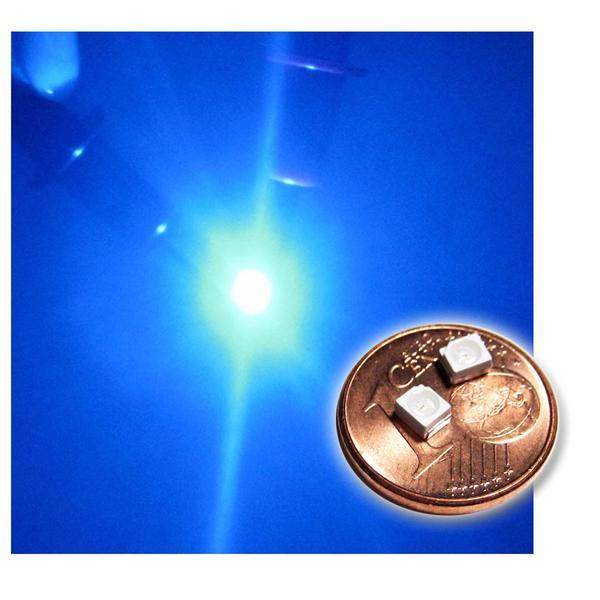 10 SMD LED PLCC-2 3528 BLAU Typ WTN-PLCC2-500b