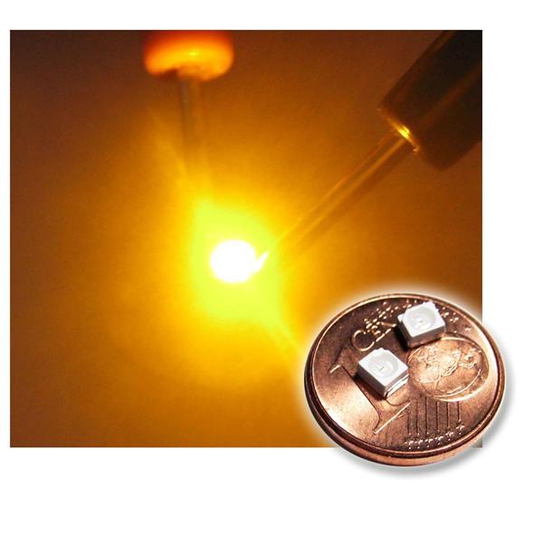 10 SMD LED PLCC-2 3528 GELB Typ WTN-PLCC2-500ge