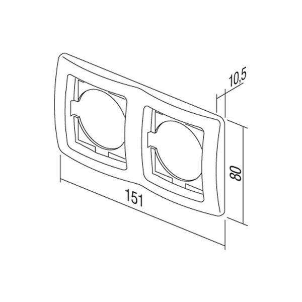 EKONOMIK 2-fach UP-Rahmen horizontal, anthrazit