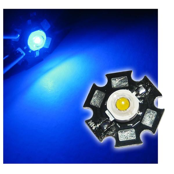 Highpower LED 1W blau auf PCB - BLUE