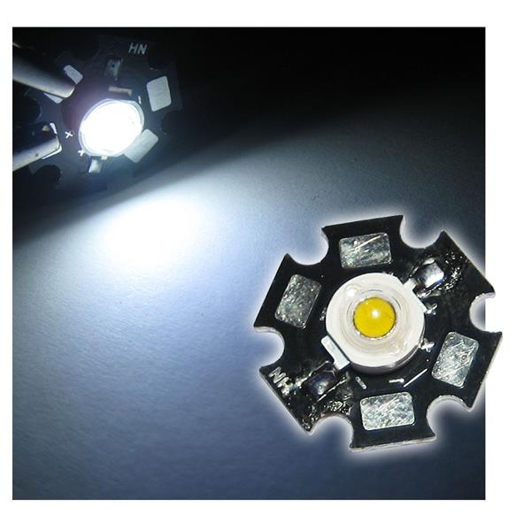 Highpower LED 1W pur-weiß auf PCB - WHITE