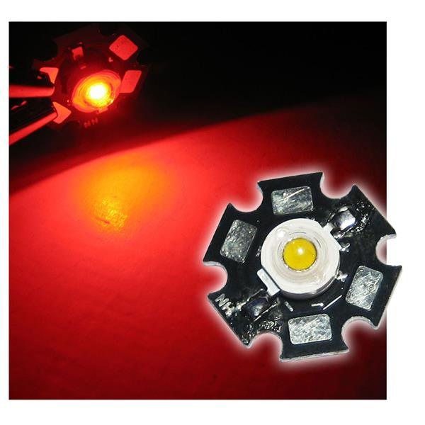 Highpower LED 1W rot auf PCB - RED