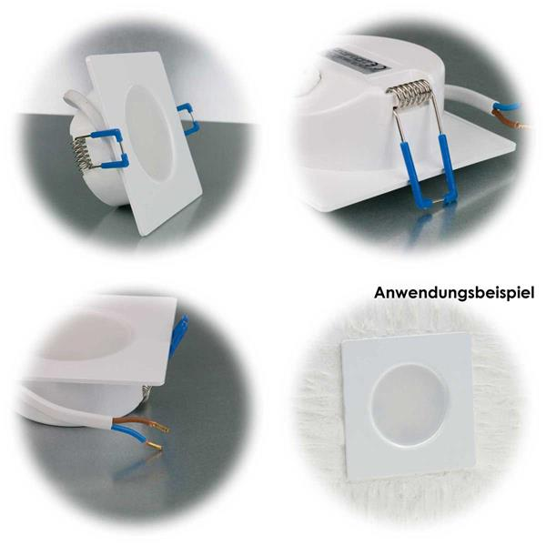 Ultraflache Einbauleuchte mit Kunststoffgehäuse