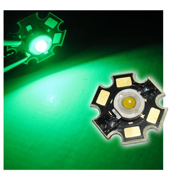 Highpower LED 3W grün auf PCB - GREEN
